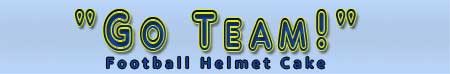 Go Team! Football Helmet Logo